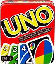 UNO Family Card Game, with 112 Cards in a Sturdy Storage Tin, Travel-Friendly, Makes a Great Gift for 7 Year Olds and Up [...