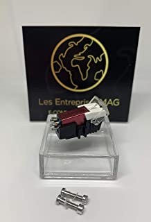 Cartucho + lápiz óptico de diamante para Audio Technica T.92, ATLP120, ATLP1240, ATPL120, rojo