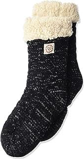 Women's Space-Dye Cable Knit Blizzard Slipper Sock with Sherpa Cuff. Zapatillas Calcetines de casa de Mujer Dearfoams. Confort y Suave. Talla única.