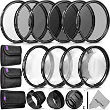 58MM Complete Lens Filter Accessory Kit (UV, CPL, ND4, ND2, ND4, ND8 and Macro Lens Set) for Canon EOS 70D 77D 80D Rebel T7 T7i T6i T6s T6 SL2 SL3 DSLR Cameras