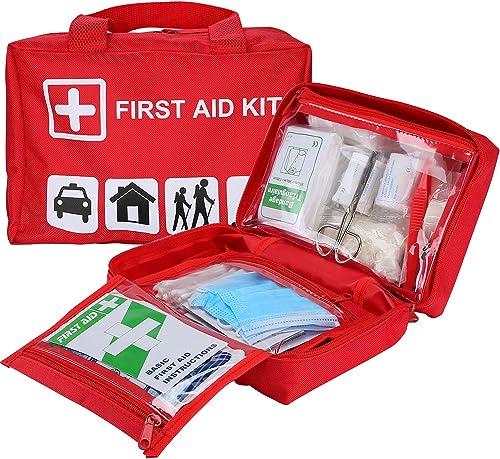 Procase Grande Trousse Secours, Trousse de Premiers Soins, First Aid Kit, 1er Sac Rouge Kit Complet de Survie, d'Urge...
