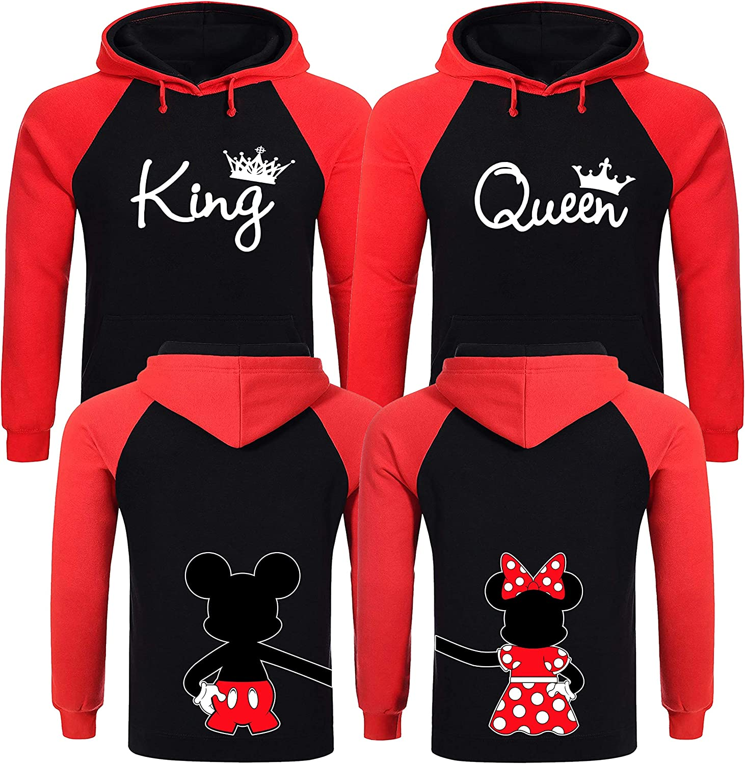 King and Cheap Queen All items free shipping Hoodies Christmas Couples Sweaters Que