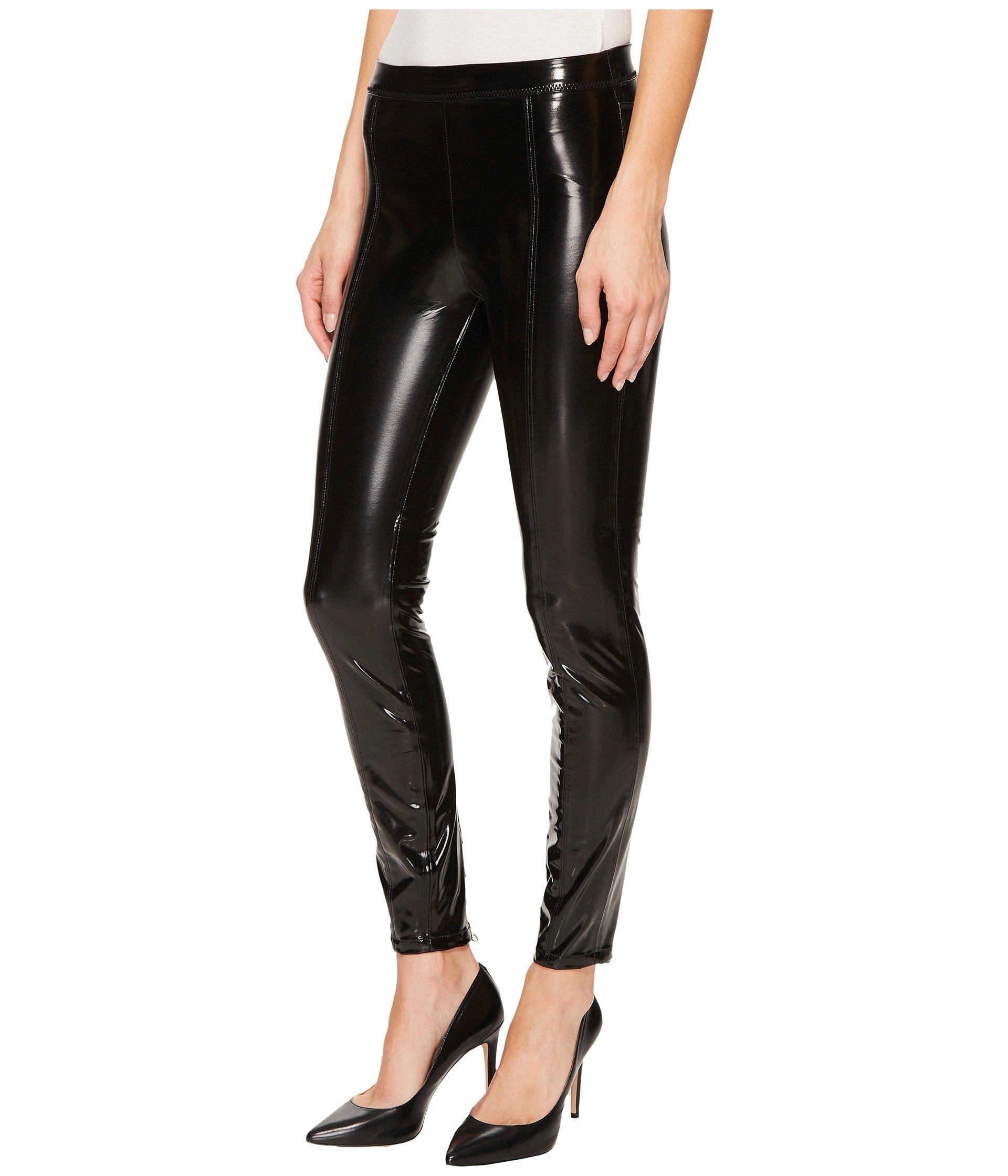 Blank Nyc Shiny Vegan Leather High Rise Pull On Leggings