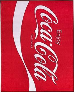 Coca-Cola Enjoy Logo Red Non-Slip Indoor Outdoor Area Rug Carpet 8-ft x 10-ft (96