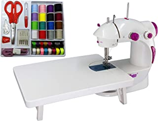 Sew Mighty, The Original Mighty Mini Portable Sewing Machine for Beginners, Kids, Travel, Quick Repairs & Small Projects – Dual-Speed, Battery & AC Power, Extension Table, Foot Pedal (Mighty Mini Kit)