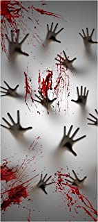 Joiedomi Halloween Haunted House Decoration Window Door Cover Zombie Hands 72X30 Inches
