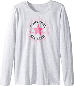 Converse Kids - Long Sleeve Chuck Patch Tee (Big Kids)
