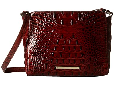 Brahmin Melbourne Carrie Crossbody Bag (Pecan) Cross Body Handbags
