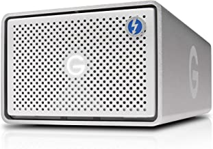 G-Technology 16TB G-RAID with Thunderbolt 2 and USB 3.0, Removable Dual Drive Storage System, Silver - 0G04097