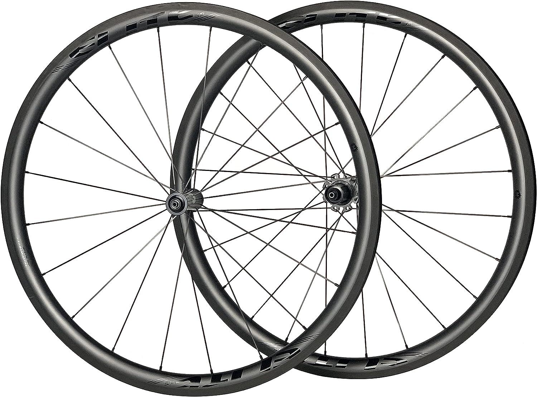 ELITEWHEELS Road Bike 受注生産品 Carbon Wheels 700c 60 Clincher 88mm 50 38 授与