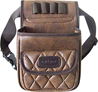 TOURBON Sporting Clays Shooting Leather 50+ Cartridge Shell Pouch Waist Ammo Bag