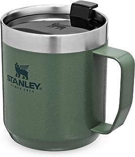 Stanley Classic Legendary Camp Mok 354 ml / 12 oz Hammertone Green – dubbelwandige, vacuüm-geïsoleerde thermosbeker – BPA-...