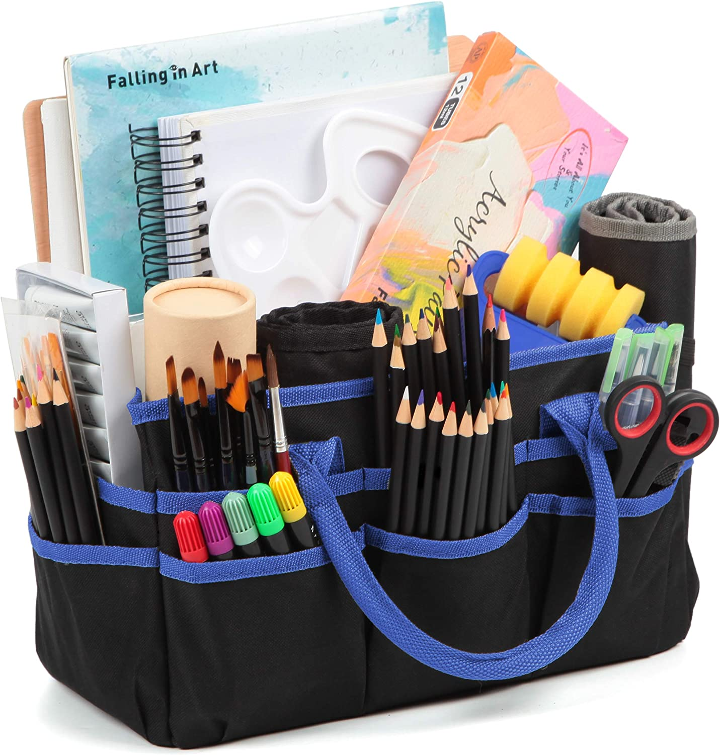Jjring Craft and Art Organizer Tote Bag Limited price Blue - 600D Fabric Nylon Ranking TOP4