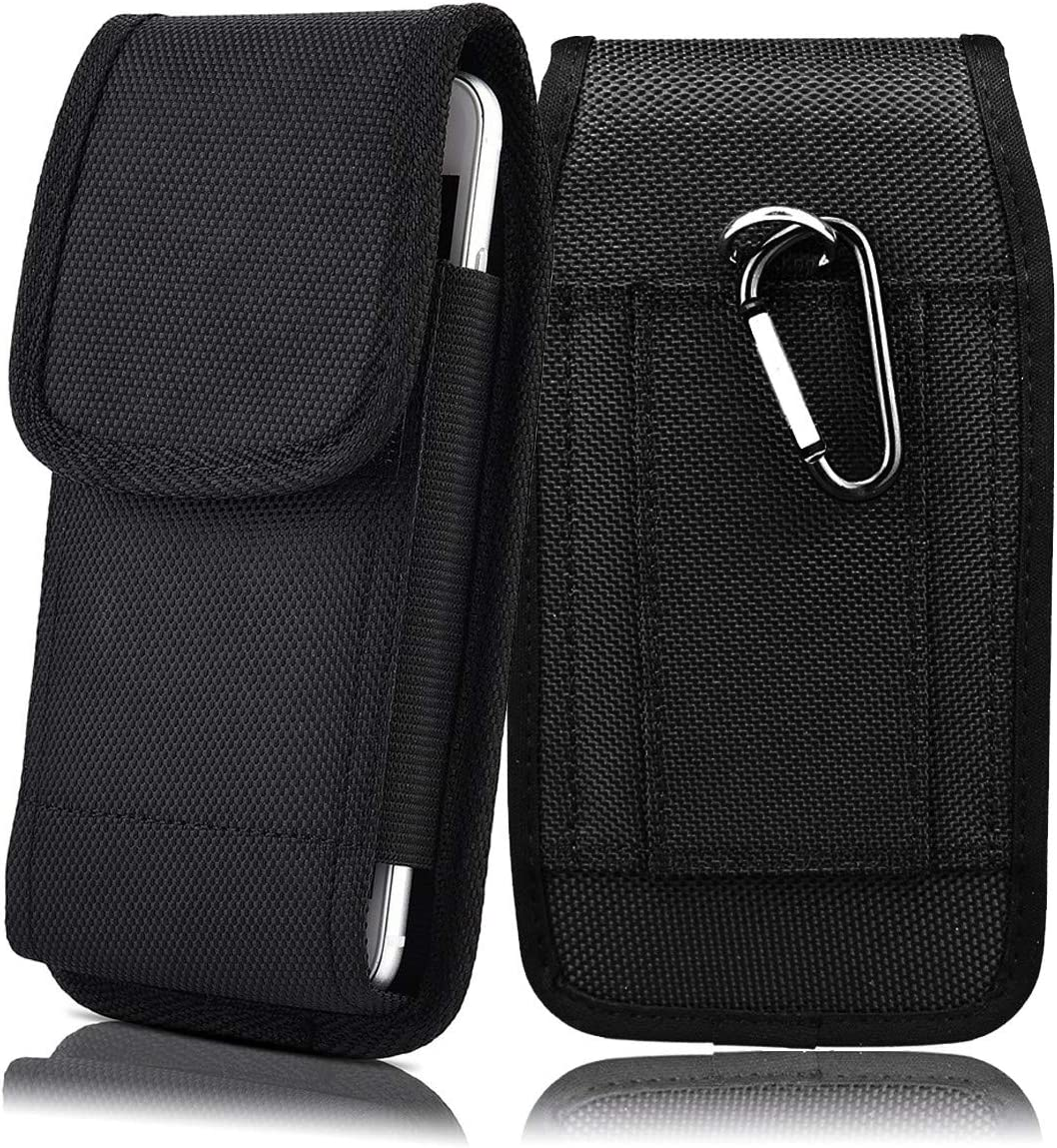 APLLEN Phone Pouch Belt Clip Case for Motorola Moto G Fast/Moto G8 /One Fusion+ / One Fusion Plus Case Nylon Holster Loop Waist Bag Carrying Cellphone Cover