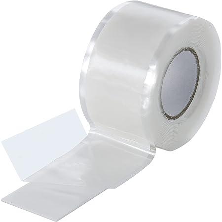 Poppstar 1x 3m Selbstverschweißendes Silikonband Silikon Tape Reparaturband Isolierband Und Dichtungsband Wasser Luft 25mm Breit Transparent Baumarkt