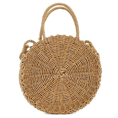 c56a916daa UNYU Straw Crossbody Bag Women Weave Shoulder Bag Round Summer Beach Purse  and Handbags Bohemia Style