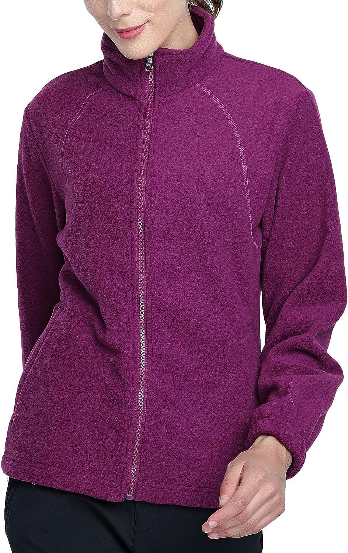 VlSl Women Ultra Soft Breathable FullZip Fleece Long Sleeve Jacket