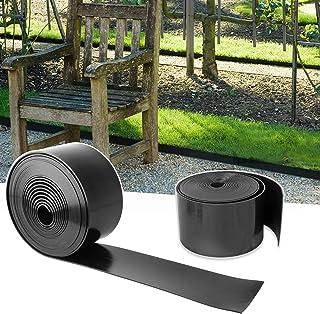 YAOBLUESEA Bordures Jardin, Flexible Bordure Pelouse en Plastique Rouleau Bordure pour Jardin,25m x 10cm(LxH) Noir
