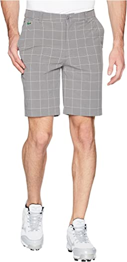 Golf Window Pane Stretch Bermuda Shorts