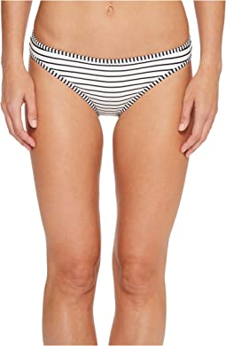 Blossom Stripes Contrast Binding Bikini Bottoms