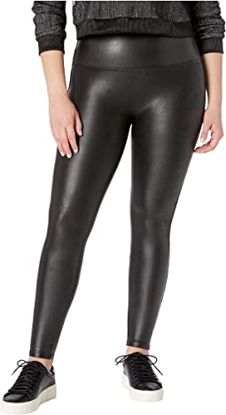 Plus Size Faux Leather Petite Leggings