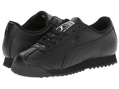 Puma Kids Roma Basic Jr. (Big Kid) (Black/Black) Boys Shoes