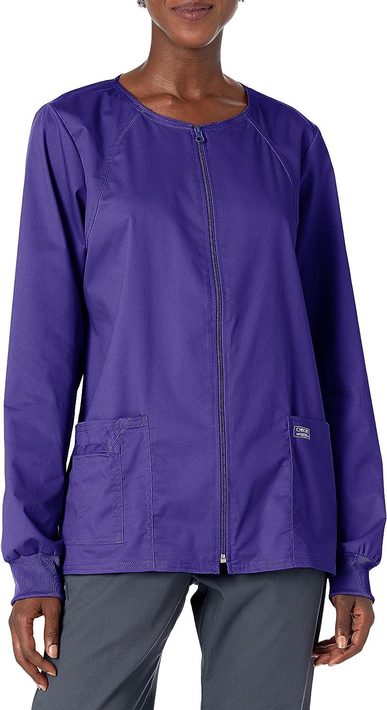 Workwear Core Stretch Women Scrubs Jacket Zip Front 4315