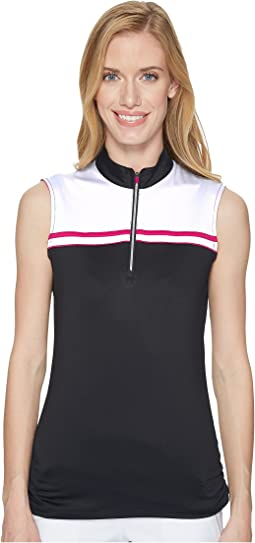 Color-Blocked Sleeveless Polo