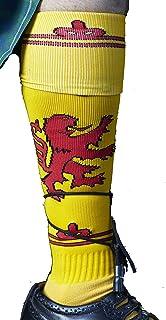 Wigi Scot-Sox Scottish Lion Rampant Knee-High Long Athletic Socks Scotland For Running, Yellow, 1