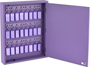 Armário Organizador de Chaves com 24 Chaveiros (Claviculário), Acrimet, (Cor Lilás)