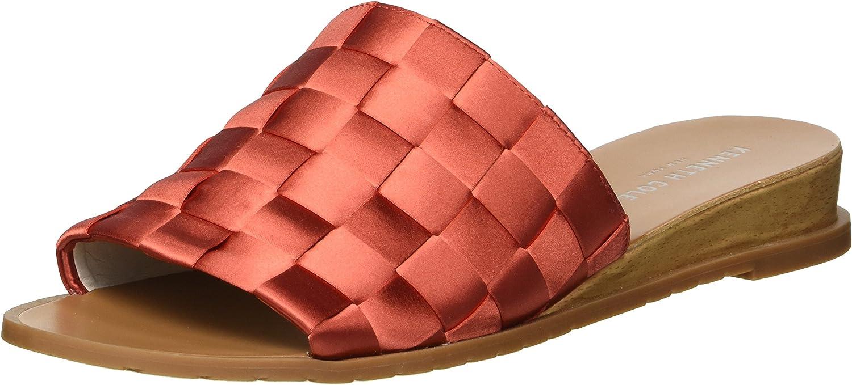 Kenneth Cole New York Womens Joanne Slide Sandal Woven Satin Slide Sandal