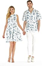 Couple Matching Hawaiian Luau Cruise Outfit Shirt Vintage Dress Classic White