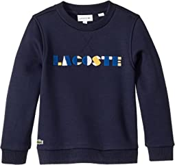 Lacoste Wording Fleece Sweatshirt (Toddler/Little Kids/Big Kids)