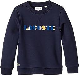 Lacoste Wording Fleece Sweatshirt (Toddler/Little Kids/Big Kids)