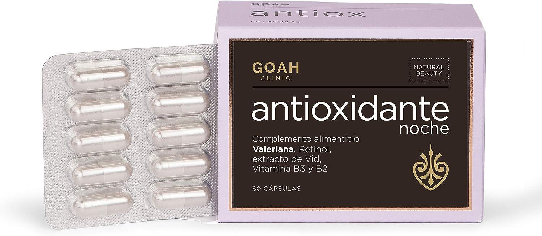Antioxidante Noche – Goah Clinic, Cosmética en cápsulas, Nutricosmética para rejuvenecer mientras duermes