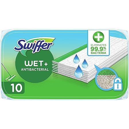 Swiffer antibakterielle feuchte Bodentücher 10 Stück, entfernen 99,9 % der Bakterien, schnelles & einfaches Bodenwischen