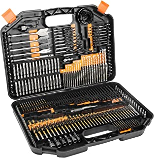 Enertwist Drill Bit Set, 246-Pieces Drill Bits and Driver Set for Wood Metal Cement Concrete Drilling and Screw Drive, Top Rated Combo Kit Assorted in Hard Plastic Carrying Case, ET-DBA-246