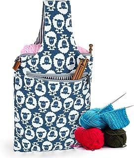 Teamoy Sac à Tricoter de Sac à Main dans des Sacs de Tissage de Main pour des Aiguilles Crochet Sac à Dos