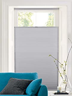 Calyx Interiors A04HUF350720 Window-Treatment-Honeycomb-Shades, 35-Inch Width by 72-Inch Long, Gray
