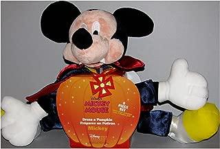 Disney Store~mickey Mouse Halloween As a Vampire ~ Dress a Pumpkin