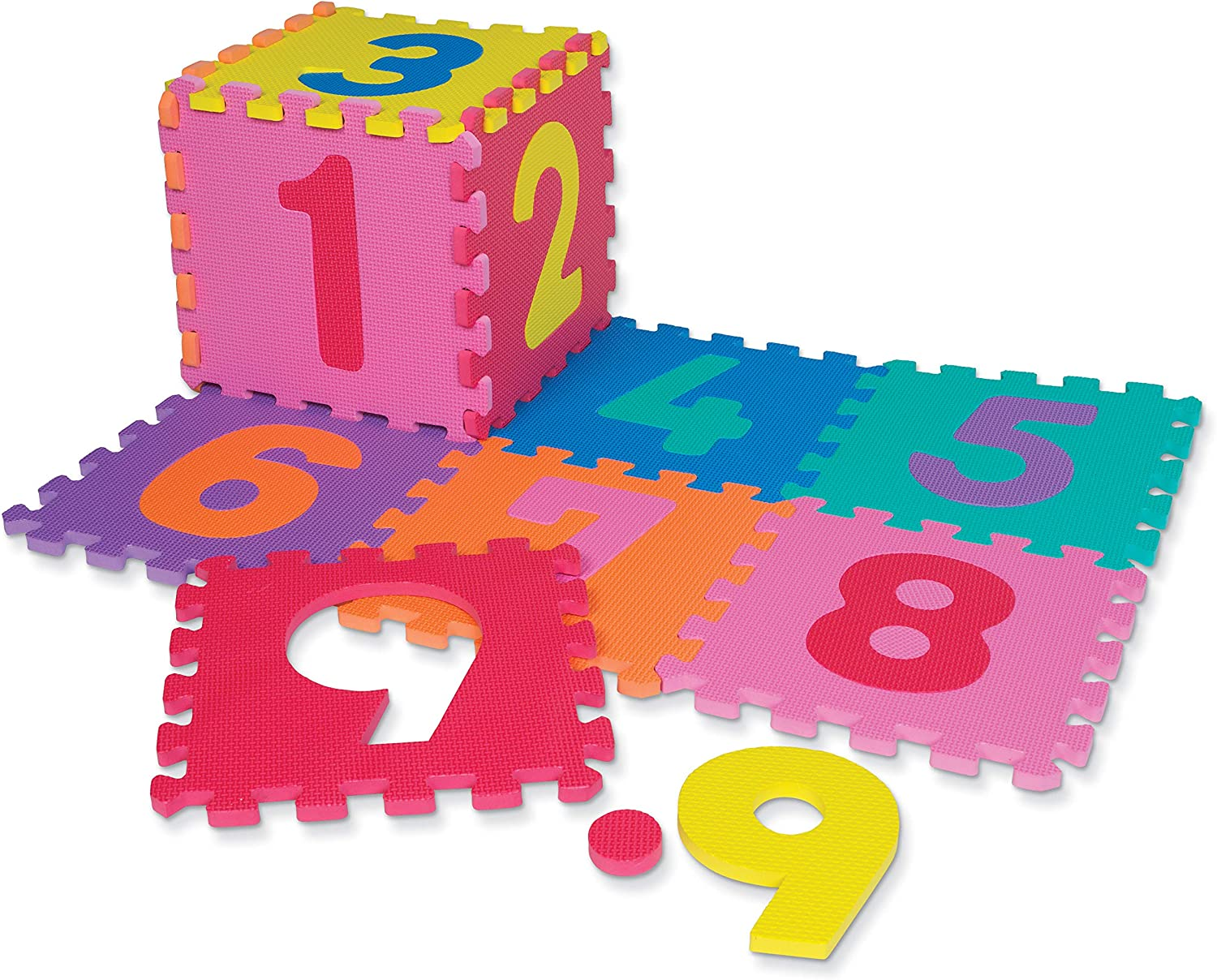 Chenille Kraft WonderFoam Puzzle Mat AC4382 New low-pricing popularity Numbers Pieces 20