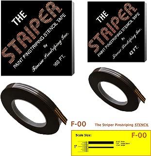The Striper Paint Pinstriping Stencil Tape - Pinstripe Your Car/Truck | Striper: F-00 | Results: 3/16