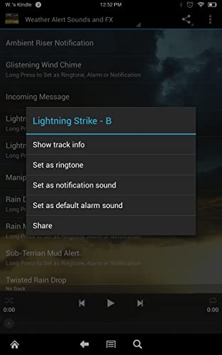『Epic Rain & Thunder Sounds - with featured ebook: Basic Weather Spotters' Field Guide』の5枚目の画像