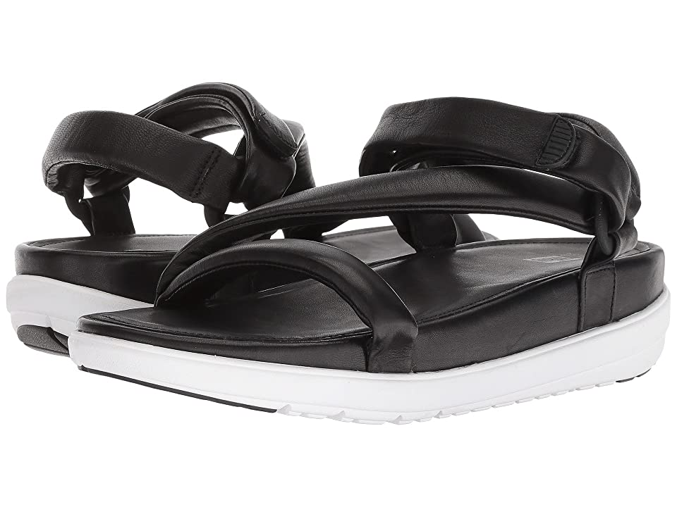 FitFlop Loosh Luxetm Z-Strap Leather Sandals (Black Leather) Women