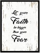 Let Your Faith Be Bigger Than Your Fear Bible Verse Scripture Quote Canvas Print Picture Frame Home Decor Wall Art Gift Ideas, 7