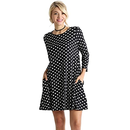f4e91c95b5b Casual T Shirt Dress for Women Flowy Tunic Dress with Pockets Reg and Plus  Size -