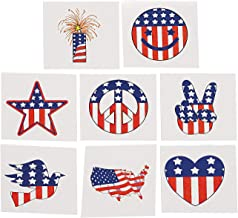 Patriotic Tattoos (6dz) for Fourth of July - 72 Pieces