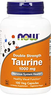 Now Foods Taurine, Double Strength 1000mg, Veg Capsules, 100ct