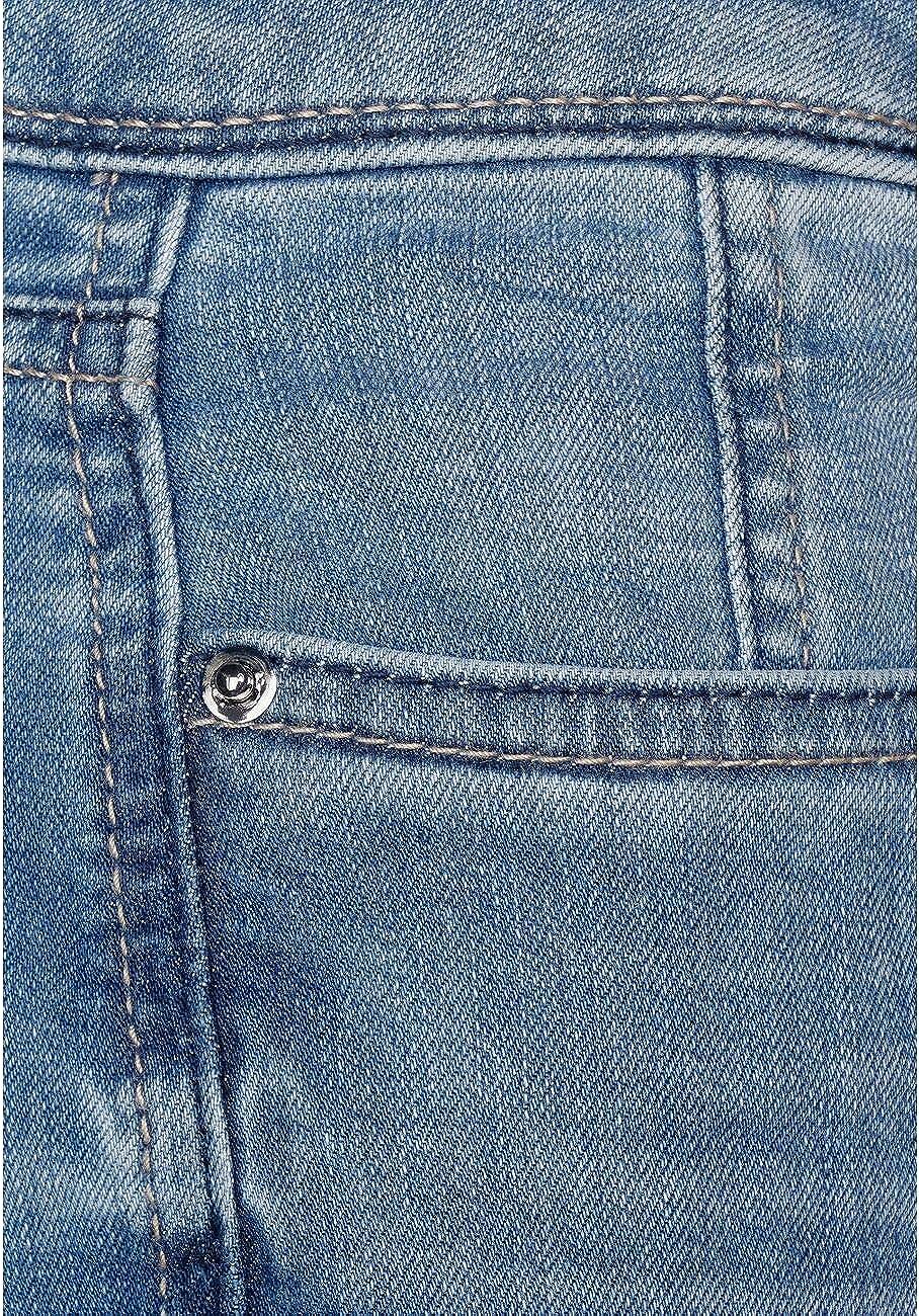 Street One York Jeans Femme Blue Acid Wash