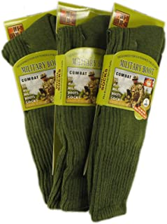 3 Pairs Of Men's Army Socks Thermal Long Military Socks Heat Tog Cushioned Sole, Size 6-11